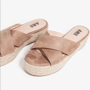 Platform espadrilles sandals tan beige Chanel Lf